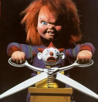 One of my inayopendelewa horror movie characters is Chucky.