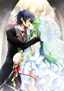 Lelouch vi Brittania and CC from Code Geass
