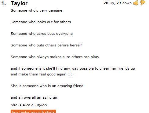 what comes up when you search your name on urban dictionary