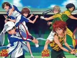 try these: -prince of tennis(in the picture) -gosick -hunterxhunter -code geass -maid sama -needless -special A ok thats all^^