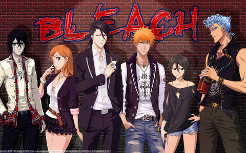 I would have to say Bleach. Shinigami rule X) Liebe Death Note (Anime) too ^^