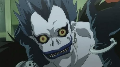 The first time I saw this shinigami in Death Note, I was creeped out so badly. I mean, he looks scary, seriously o.O
