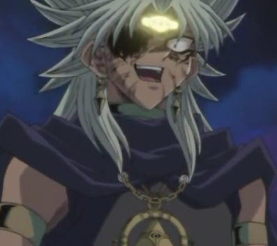 Hmm..well for me that has to be Dark Marik from Yu-Gi-Oh!..He can get really scary at times! especially in the Original (Japanese) version of the anime..twice as scary in there..in there he actually wanted to KILL Yugi-boy..he really can get quite scary at times.