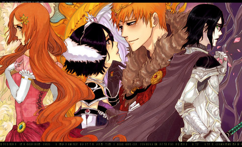 """Royalty"" oleh the artist Rusky-Boz on deviantart. IchiRuki and Ulquihime."