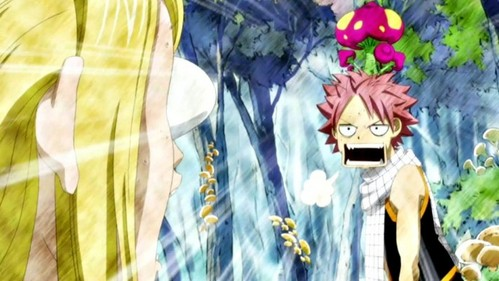 Natsu: That was scary! Lucy: Your head is scary!
