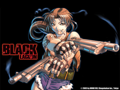 I just started this series an I 사랑 Revy's character, she kicks ass!! Most characters I like have this type of personality, tough, no nonsense, an awesome with weapons! Also like em smart,sophisticated, kinda mysterious, somewhat of a loose cannon, a little cold hearted an I usually like the loners :)