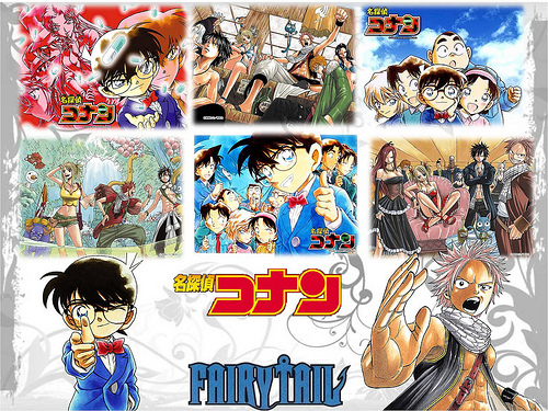 Fairy Tail and Detective Conan. I'm starting to watch them both. They are really interesting!