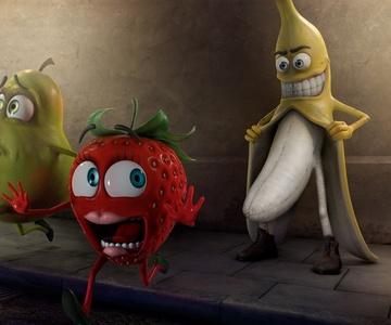 Ты ate eating.....bananas..