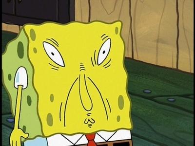 Spongebob does not approve.