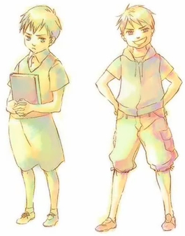 Ludwig and Gilbert were adorable children. ^-^