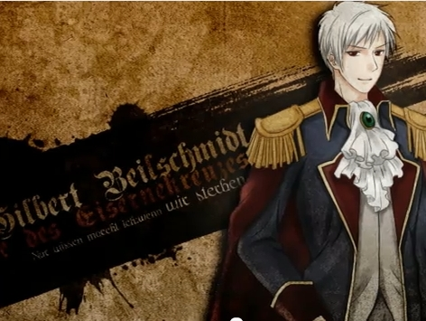 """Prussia of Hetalia: World Series (episode one)  """"These stupid anime writers have no idea what they are doing. Germany gets all the screen time and the jokes that get beeped! I'm Awesome Prussia, not some big player like France. That's it. Since I'm already pissed anyway I'll just torment these guys instead."""" *thinks of Hungary and Austria* """"The great Prussia will unleash secret weapon kept hidden all this time. That's right! A diary. One I've been writing in like a silly junior high girl since time began. Nobody has escaped my cover art concentration. Hee hee, you may have tried to bury past humiliations, but they'll all be dug up by me."""" *laughs to himself*"""