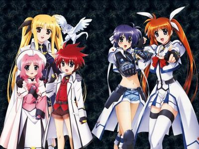 Do آپ know Magical Girl Lyrical Nanoha? It was very good. And my پسندیدہ characters is Fate Testarossa(A girl with blonde hair in pigtails), and Nanoha Takamachi(A girl with brown hair in pigtails).