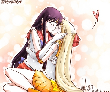 I have alot of fav yuri couples. At least one in every anime. One would be Mars x Venus (Sailor Moon)