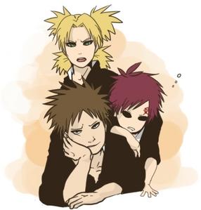 1. Temari, Gaara, Kankuro (Naruto) 2. L Lawliet (Death Note) 3. Lelouch vi Britannia/Lamperouge (Code Geass) 4. Light Yagami (Death Note) 5. Nara Shikamaru (Naruto) 6. Tia Halibel (Bleach) 7. شراب, ٹھیکی Ichimaru (Bleach) 8. Roy مستونگ, mustang (Full Metal Alchemist) 9. Death the Kid (Soul Eater) 10. Coyote Starrk (Bleach) 11. Senju Hashirama (Naruto)