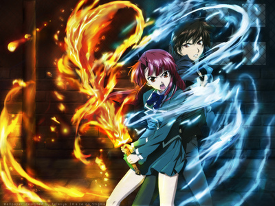 I would have to say either Code Geass または kaze no stigma