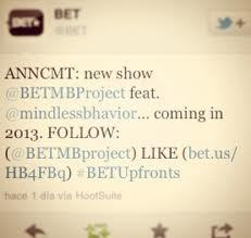 Nothing imma wait 9 months to watch tv then when they air The MB Project i'll fall in amor with BET