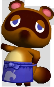 Tom Nook from Animal Crossing. That cheap piece of crap...