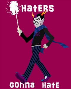 I know this was a 月 ago, but I'm bored and want to answer. xD T'is Eridan~ -w- <333