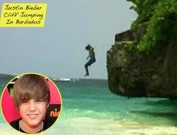 that justin bieber never jumped off the cliff