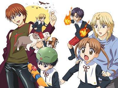 Maybe, Gakuen Alice..? Pretty hillarious once u go on watching it xDD It also has a magic/alice =DD Awesum anime ;)