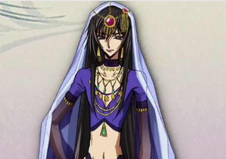 Lelouch from code geass dressed as a woman hehe ^ .^ Its from an extra stage (picture drama)