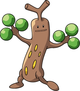 I took a quizz to find out because I don't know anything about Pokemon, and appurrently I would be a Sudowoodo. Oh my gosh this thing looks hilarious.