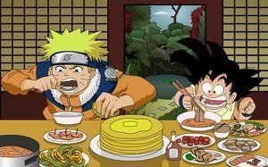 """NARUTOOOOO 4EVER!!! >o<"""" *cheers* *cheers* Give me an """"N""""! Give me an """"A""""! Give me an """"R""""! Give me a """"U""""! Give me a """"T""""! Give me a """"O""""! What's dat spell?! 'NARUTO!"""" What's the best?! 'NARUTO!"""" What rockzz?! 'NARUTOOO!!"""" Dragonball z! Give me a """"BREAK!"""" =="""""""