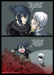 """this XD """"sion i dont want آپ to change... stay sweet and innocent ok?"""" """"now come climb up this mountain of dead bodies with me!"""" fail."""