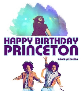 HAPPY BIRTHDAY PRINCETON I HOPE U ENJOY YOUR BIRTHDAY AND GET EVERYTHING U WISH FOR AS A FAN I WILL BE CELEBRATING YOUR BDAY FOR U IN LA SINCE YOUR ON TOUR IN LONDON I LUHV U