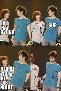 ... :3 I love that innocent little maknae~ :3 (No yaoi is shwon, but it's that awkward moment when it's referred to :3)