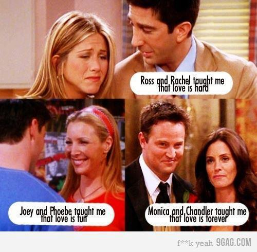 ross and rachel had a baby ended up together, monica and chandler got married and adopted twins, phebe got married to guy named mike and joey was left out