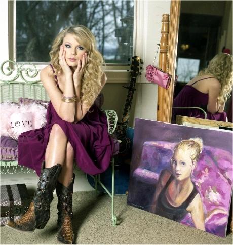 mine<3 tay in a purple dress