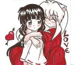Kikyo and inuyasha <3
