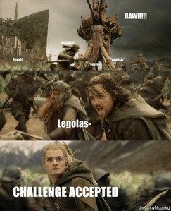 Aragorn, Legolas, Gimli, Merry, Pippin, Arawen, and Eowen!