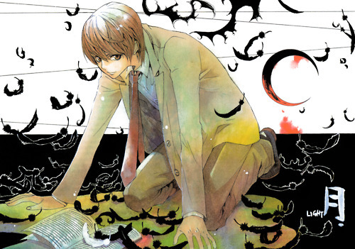 """Light Yagami: [b]""""I'll solve equations with my right hand and write names with my left. I'll take a potato chip... and eat it""""[/b] [b]""""I am Justice!""""[/b] [b]""""Just as planned.""""[/b] [b]""""I'll create the perfect world!""""[/b] [b]""""That's right...I am Kira.""""[/b] [b]""""If we catch Kira, he is evil. If he rules the world, he is justice.""""[/b] [b][i]There's more.. but there. :3[/i][/b]"""