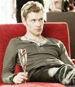 A sexy sulking Joseph morgan as Klaus in the Vampire Diaries!