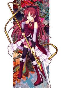 my first is konata and my segundo is kyoko from mahou shoujo madoka magica :)