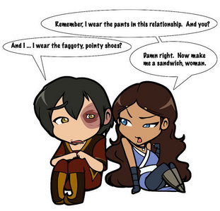 Hell to the yes!!! (plus dude, calm your Caps... -.-) P.S Zuko is so SEXY. <3 and Katara is being mean to poor zu-zu. :( ZUKO COME HERE. <333