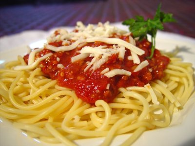 """Probably spaghetti. You can never go wrong with spaghetti. I like how I already had a picture of espaguete in my folder labeled """"fuck im hungry""""."""