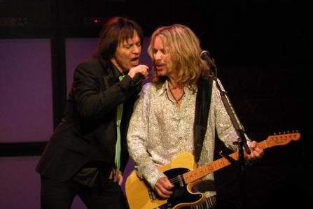 Tommy Shaw (blonde guy), so that I get to hang out with Gowan (the other guy on the pic)!! :D