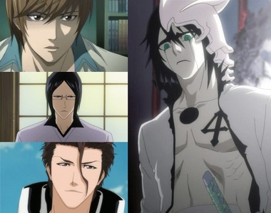 [u][b]ULQUIORRA!!!!!♥♥♥ (From Bleach) Uryuu Ishida!!!!♥♥♥ (From Bleach) Light Yagami!!!!♥♥♥ (From Death Note) Aizen-sama!!!!!!♥♥♥ (From Bleach)[/b][/u] My 4 guys!!!!!