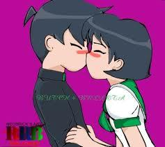 when i was crushing on my best friend and like everytime he hugged me my face turned red it was noticiable then one araw i saw him then i was gunna takle hug him..i triped and kissed him ..my face was redder then red lol