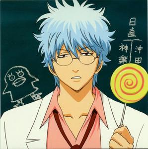 Gintoki loves his sweets x3