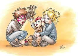 Sand Siblings from Naruto.