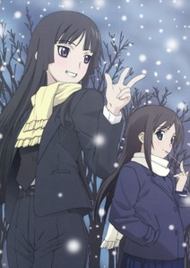 Yomi and Kagura have scarves on :3 Cute <3