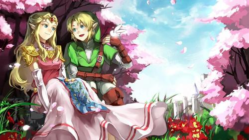 Link and Zelda!!! (do drawings/paintings/what ever this is count?)