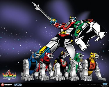 I'm showing my age with this one..VOLTRON