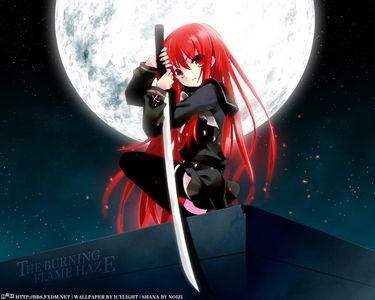 I'll go for Shana and her Nietono no Shana....