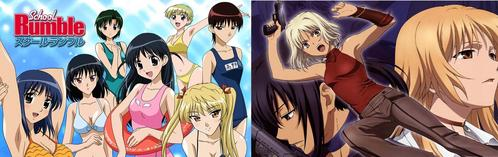 School Rumble! I don't usually see または hear people talk about it much, only on certain occasions, but I see it as a bit underrated for such a great anime. Another one is [b]CANAAN[/b]. Not many episodes, but this is another great アニメ series that is so underrated!