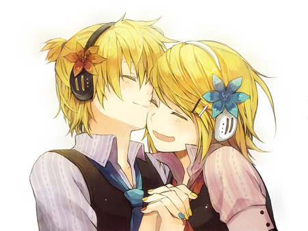 here is rin and Len from vocaloid
